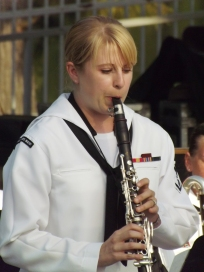 """MU3 Sandy Herrera performs the solo for Artie Shaw's """"Concert for Clarinet."""""""