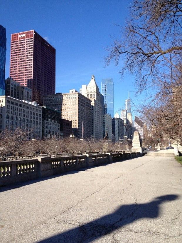 Walking to Millenium park