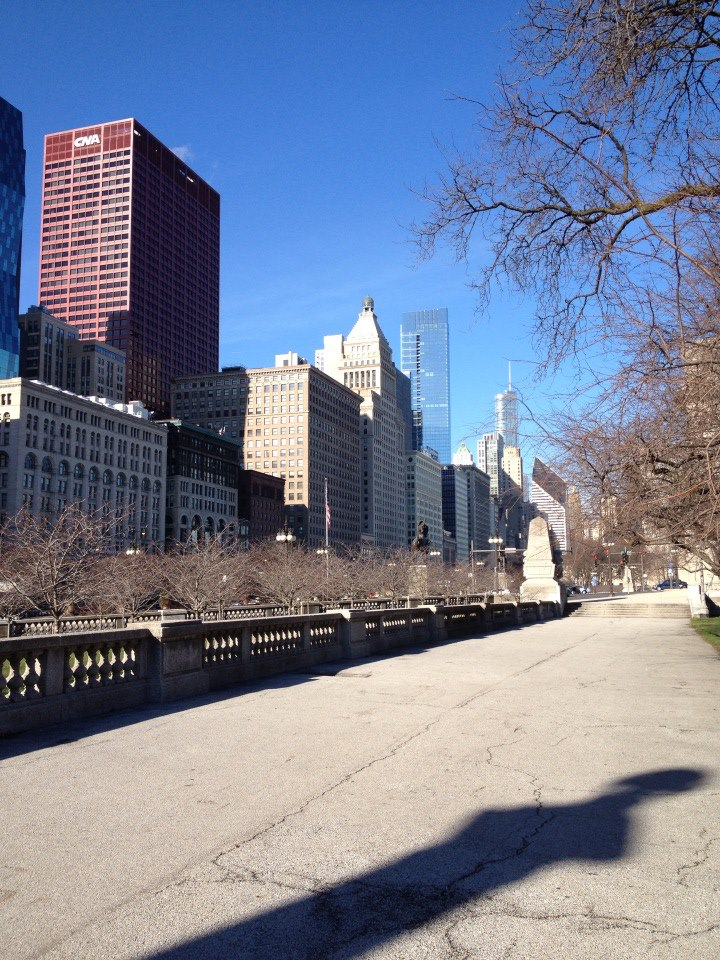 Walking to Millenium park